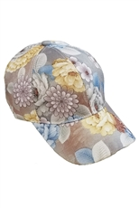Dozen Assorted Color Floral Cap