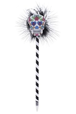 A Dozen Assorted Color Sugar Skull Pen