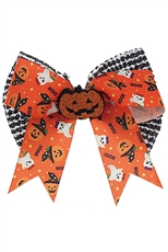A Dozen Assorted Color Halloween Theme Bow Hair Clip