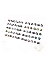 60pcs Assorted Style Barbell Fake Ear Expander with Display Case
