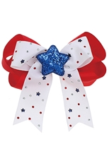 A Dozen Assorted Color Star Accent Bow Hair Clip Hair Pin