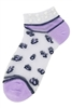 A Dozen Assorted Color Pearl Accent Leopard Socks