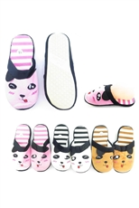 Dozen Assorted Color Animal Theme Indoor Slipper Shoes