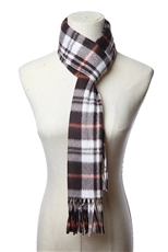 A Dozen Assorted Color Classic Plaid Scarves