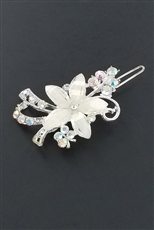 A Dozen Assorted Color Rhinestone Flower Hair Clip