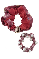 A Dozen Assorted Color 2-pc Scrunchie Set