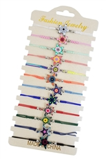 A Dozen Assorted Color Tribal Star Bracelet