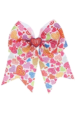 A Dozen Heart Print Bow Hair Clip Hair Pin
