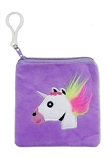 Dozen Assorted Color Unicorn Coin Purse