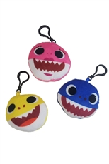 A Dozen Assorted Color Baby Shark Key Ring