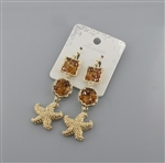 Starfish Crystal Beaded Dangle Earring