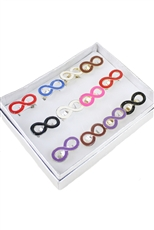 Dozen Assorted Color Enamel Infinity Charm Ring