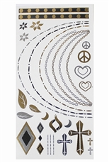 Dozen Metallic Temporary Tattoos