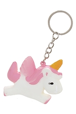 A Dozen Assorted Color Unicorn Squishy Key Ring