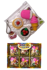 3D Ice Cream and Cake Eraser Sets