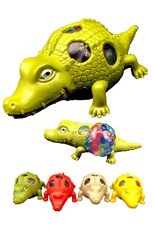 A Dozen Assorted Color Alligator Anti-Stress Squishy Mesh Ball