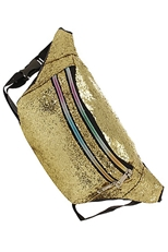 A Dozen Assorted Color Glitter Accent Fanny Pack