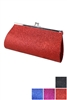 Dz Pack Assorted Color Glittered Evening Bag