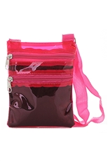 Dozen Assorted Color Transparent Messenger Bag
