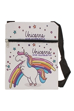 Dozen Assorted Color Unicorn Print Messenger Bag