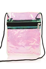 A Dozen Assorted Color Transparent Messenger Bag