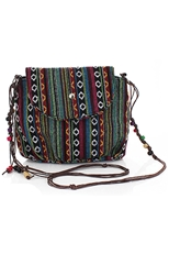 A Dozen Assorted Color Tribal Print Crossbody Bag