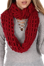 DZ Pack Assorted Color Fishnet Infinity Scarves
