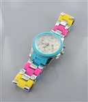 Multi Color Acrylic Band Watch