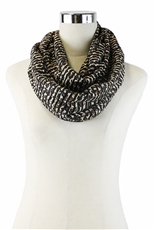 DZ Pack Assorted Color Leopard Print Infinity Scarves
