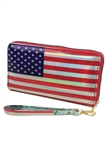 American Flag Holographic Wallet