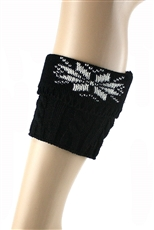 DZ Pack Assorted Color Short Snowflake Crochet Knit Leg Warmers