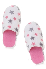 A Dozen Assorted Color Star Print Indoor Slipper