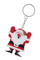 A Dozen Assorted Color Christmas Theme Key Ring