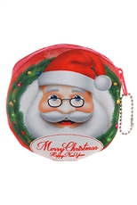 Dozen Assorted Color Christmas Theme Coin Purse