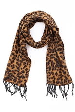 A Dozen Assorted Color Classic Leopard Scarves