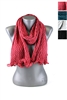 DZ Pack Assorted Color Knitted Chevron Infinity Scarves