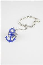 Hand Chain Bracelet with Anchor Stretch Ring