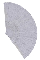 A Dozen Assorted Flower Hand Fan