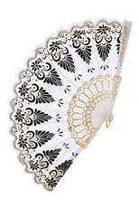 A Dozen Assorted Color Floral Hand Fan
