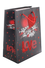 A Dozen Assorted Color Love Theme Gift Bag