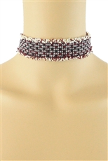 Tweed Choker Necklace