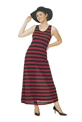 Casual Dress - Multi-Colored - Red/Black