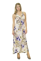 Floral Print Dress - White/Purple/Yellow