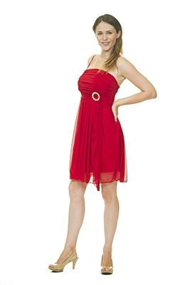 Formal Mini Dress - Red