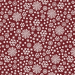 Benartex Jolly Penguin and Friends Jolly Flake Red 10043-10 Half yard