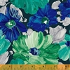 Windham Finger Painted Flowers 40749-2 Half yard