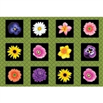Benartex Bloom with a View Floral Flower Box Green 4809-44 Half yard