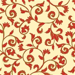 Benartex Noel Scroll Cream/Red 8184M-07 Half yard