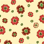 Benartex Noel Medallion Flower Cream 8185M-07 Half yard