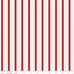 Riley Blake Song Bird Red - Stripe C2864 Half Yard